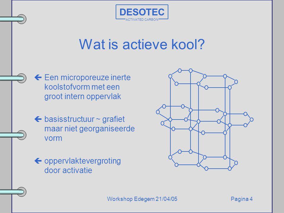 Wat is actieve kool DESOTEC