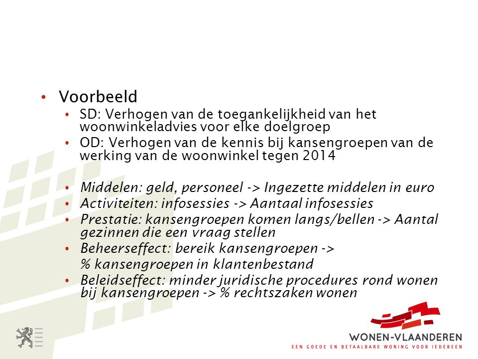 Voorbeeld SD: Verhogen van de toegankelijkheid van het woonwinkeladvies voor elke doelgroep.