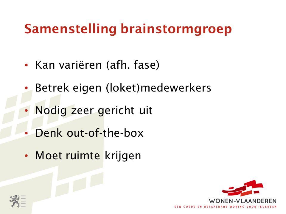 Samenstelling brainstormgroep