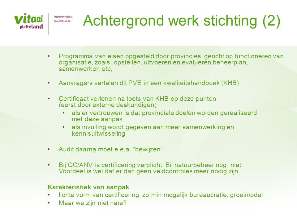 Achtergrond werk stichting (2)