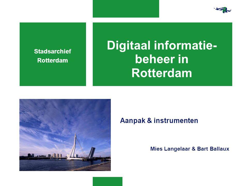 Digitaal informatie-beheer in Rotterdam