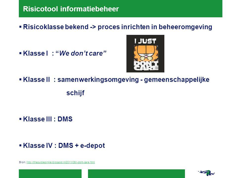 Risicotool informatiebeheer