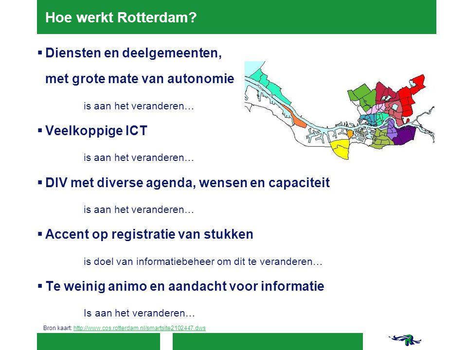 Hoe werkt Rotterdam Diensten en deelgemeenten,