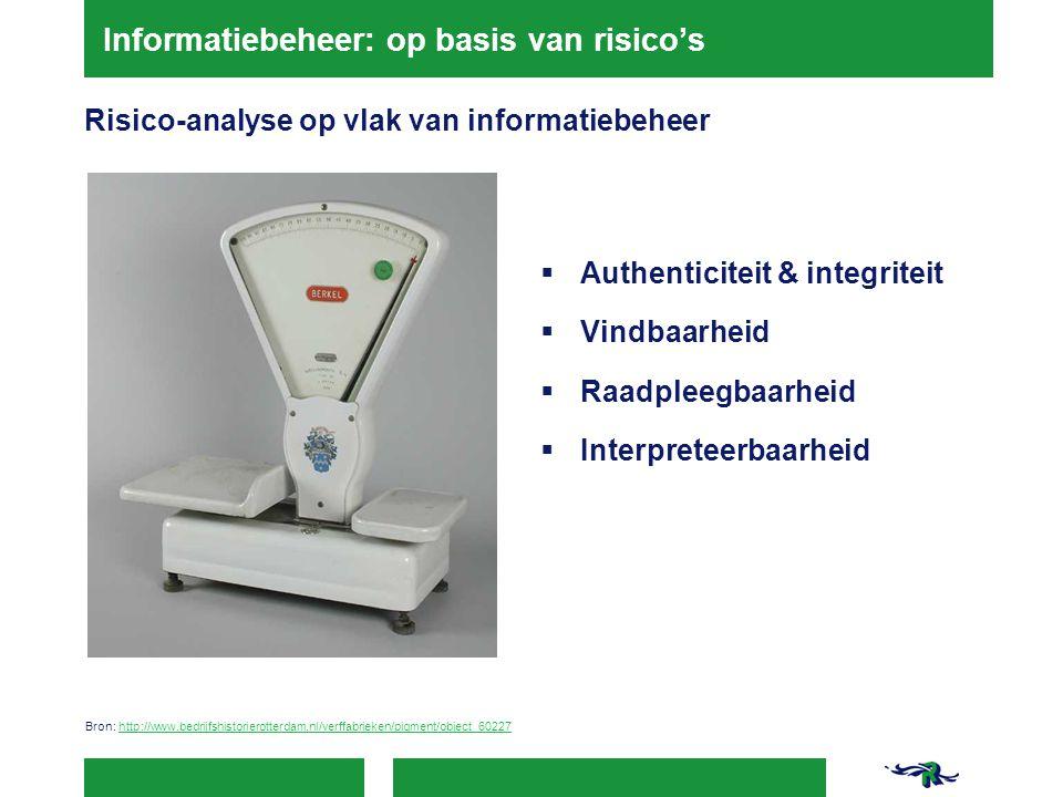Informatiebeheer: op basis van risico's