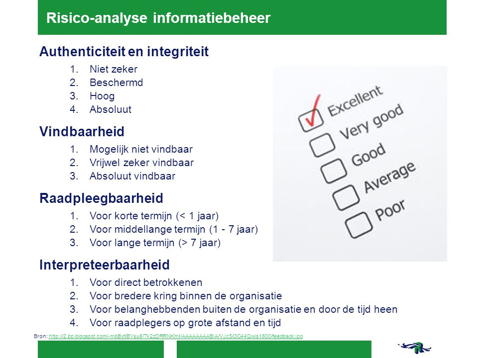 Risico-analyse informatiebeheer