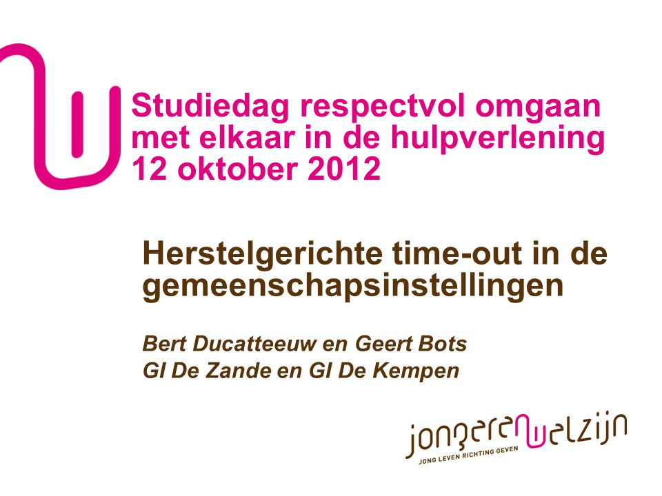 Herstelgerichte time-out in de gemeenschapsinstellingen