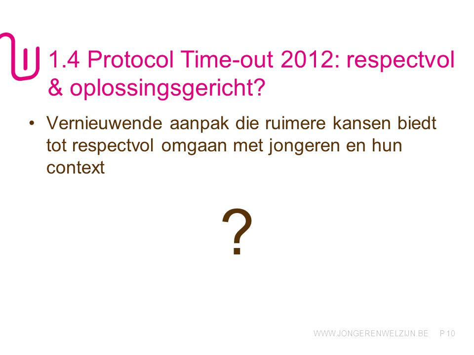 1.4 Protocol Time-out 2012: respectvol & oplossingsgericht