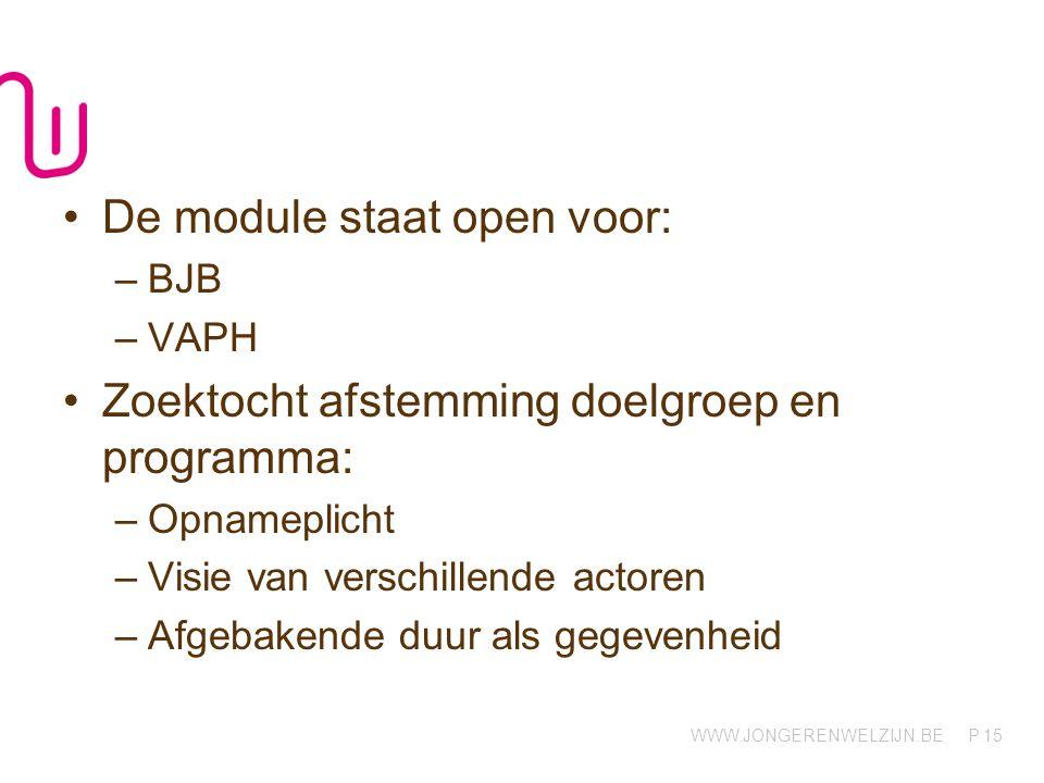 De module staat open voor: