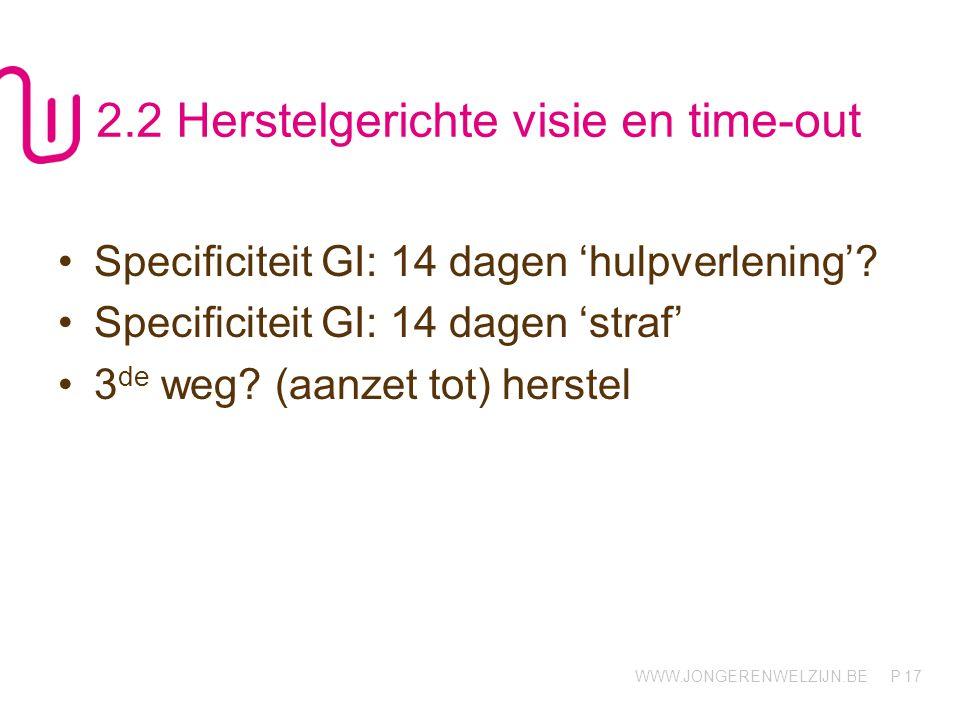 2.2 Herstelgerichte visie en time-out