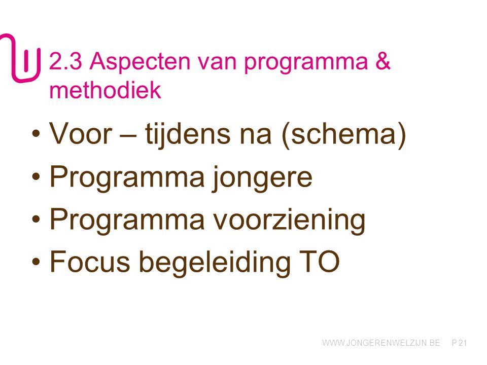 2.3 Aspecten van programma & methodiek