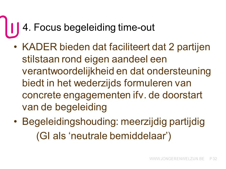 4. Focus begeleiding time-out