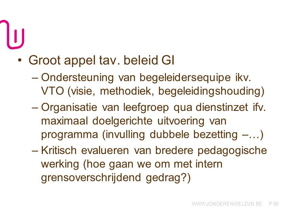 Groot appel tav. beleid GI