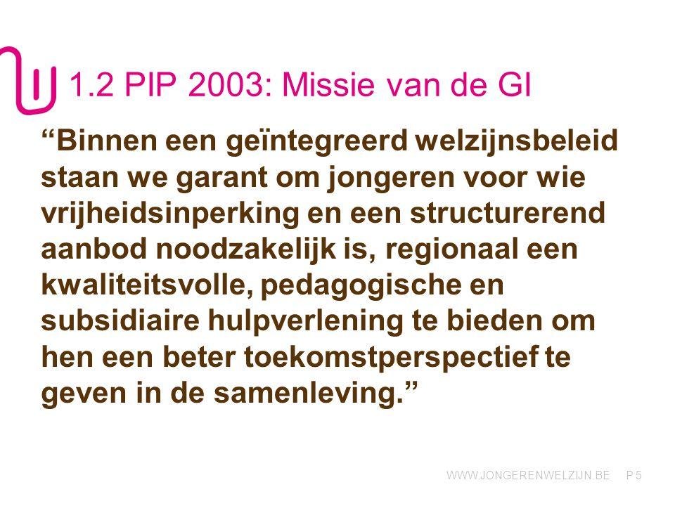 1.2 PIP 2003: Missie van de GI