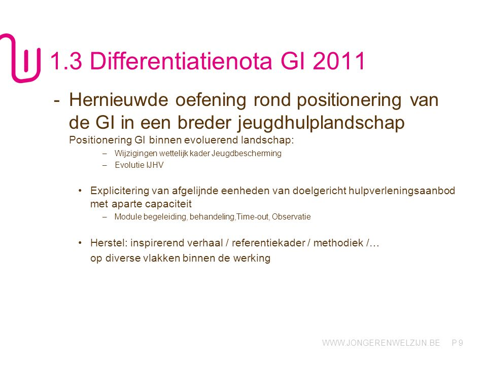 1.3 Differentiatienota GI 2011