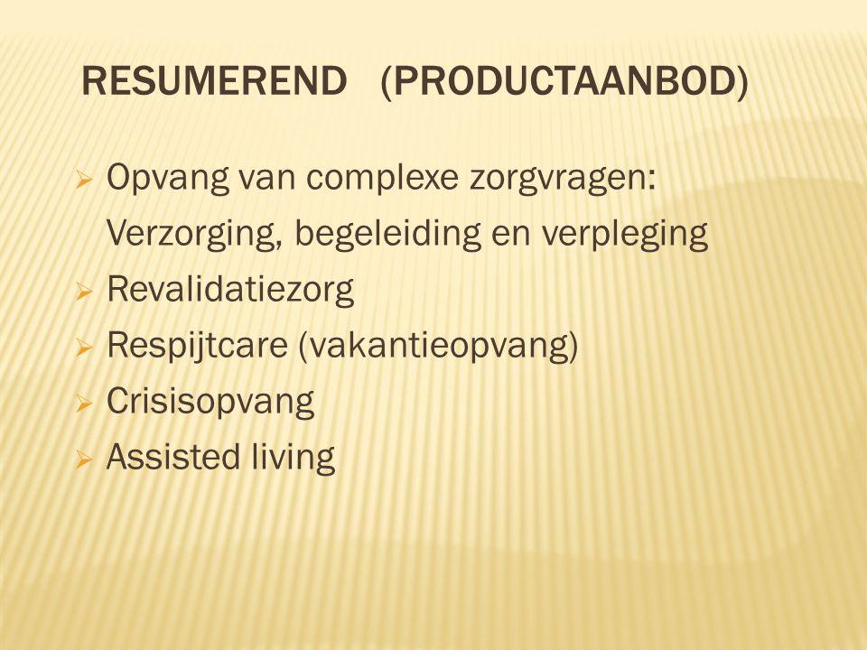 Resumerend (productaanbod)