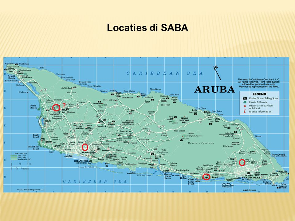 Locaties di SABA