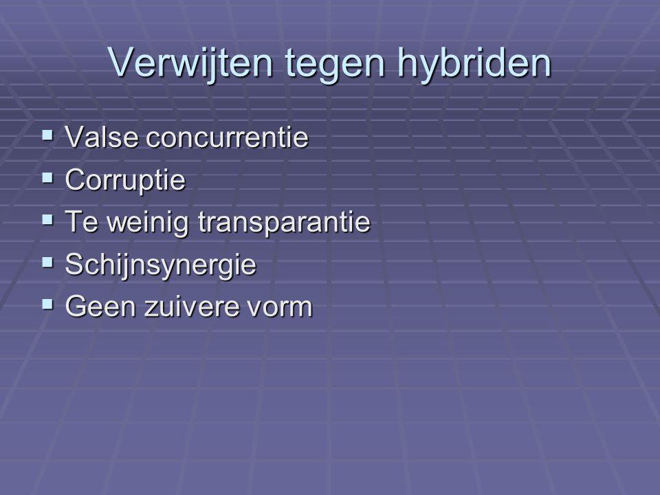 Verwijten tegen hybriden