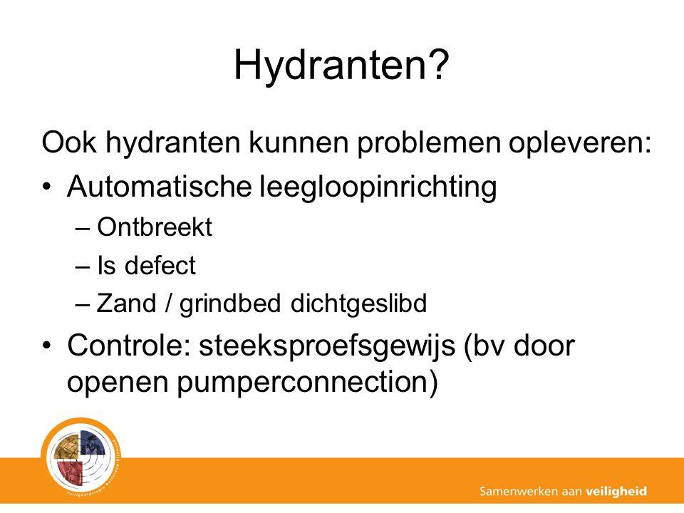 Hydranten Ook hydranten kunnen problemen opleveren: