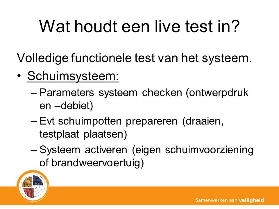Wat houdt een live test in