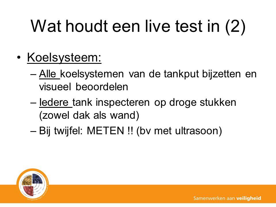 Wat houdt een live test in (2)