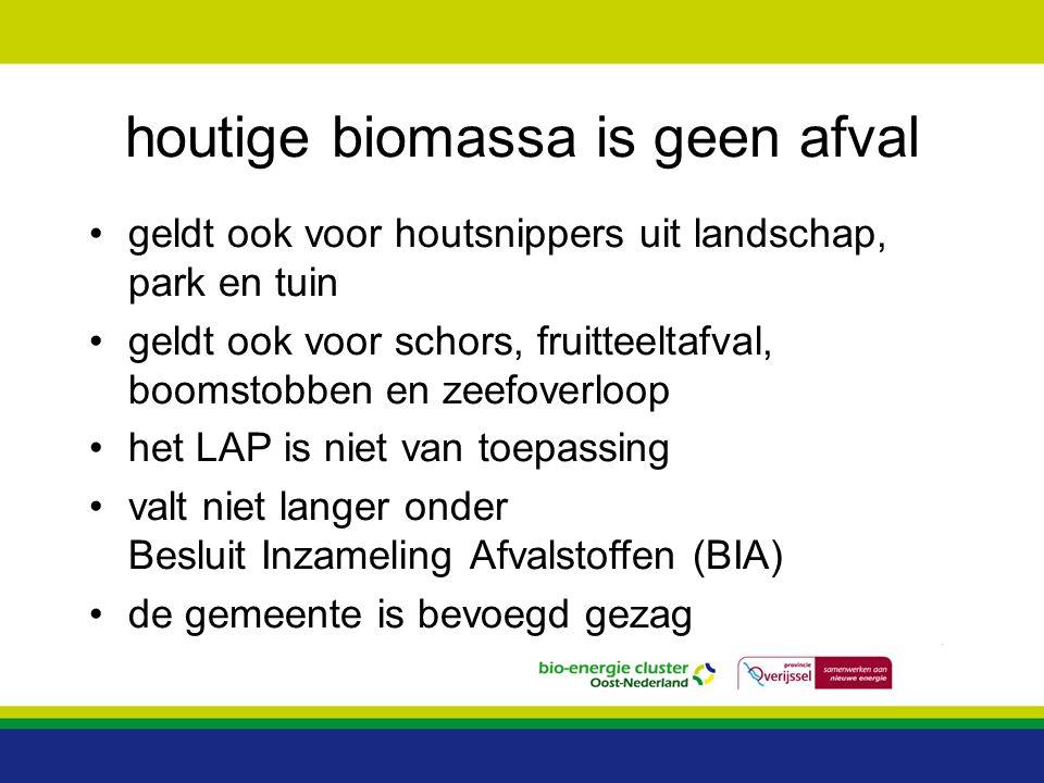 houtige biomassa is geen afval