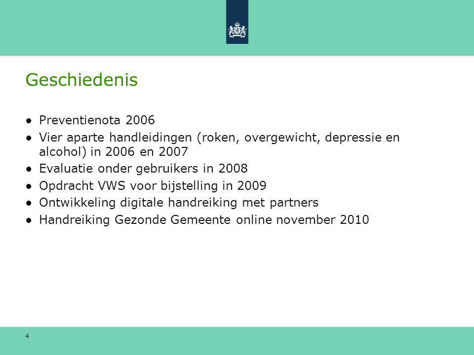 Geschiedenis Preventienota 2006