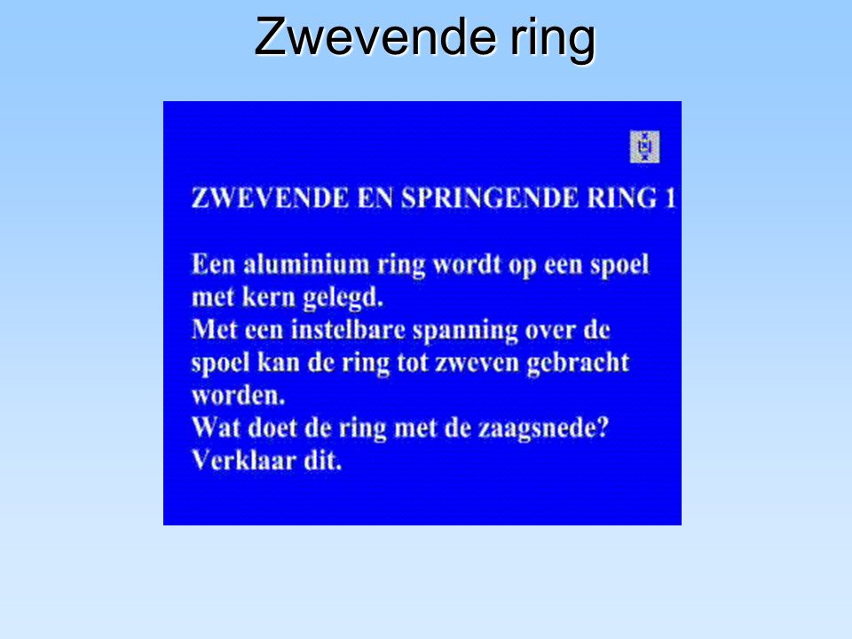 Zwevende ring