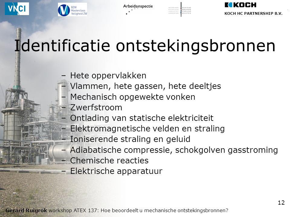Identificatie ontstekingsbronnen