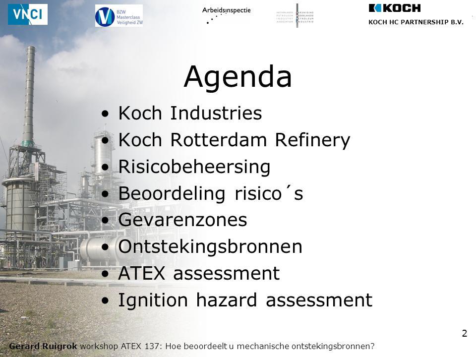 Agenda Koch Industries Koch Rotterdam Refinery Risicobeheersing