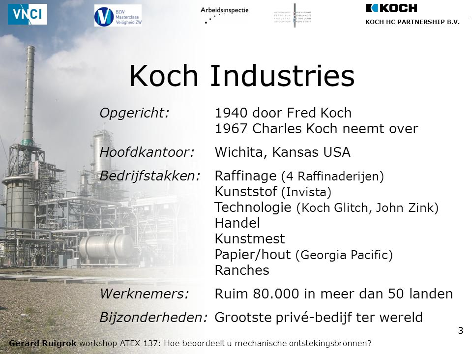 Koch Industries Opgericht: 1940 door Fred Koch