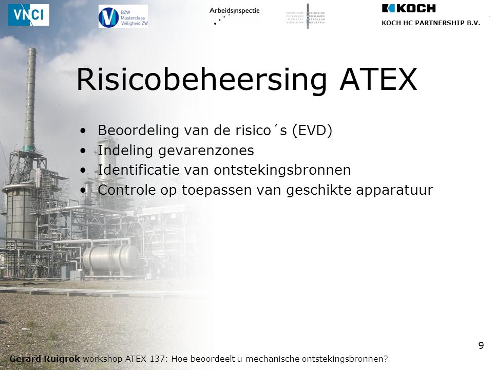 Risicobeheersing ATEX