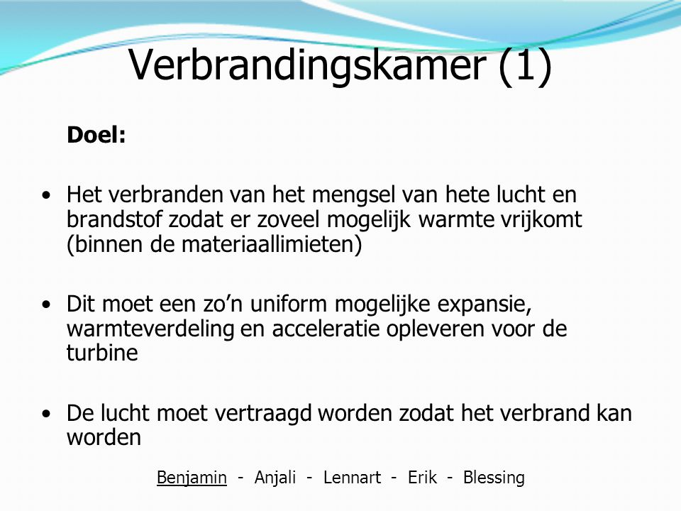 Benjamin - Anjali - Lennart - Erik - Blessing