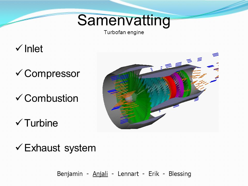 Samenvatting Turbofan engine