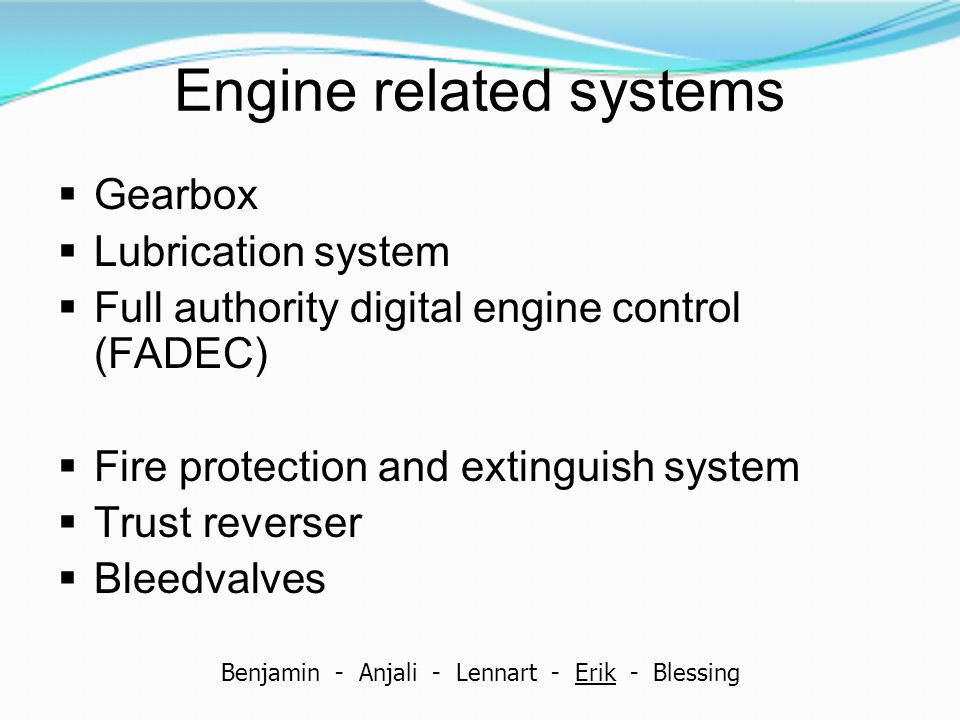 Engine related systems