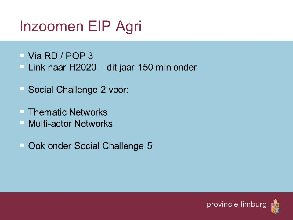 Inzoomen EIP Agri Via RD / POP 3