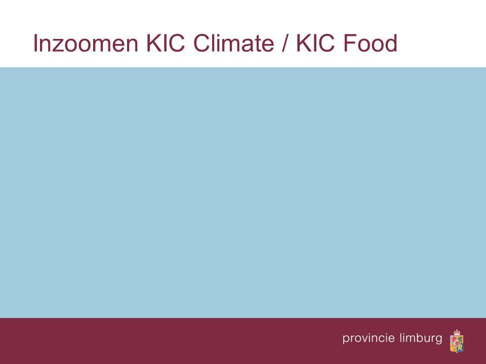 Inzoomen KIC Climate / KIC Food
