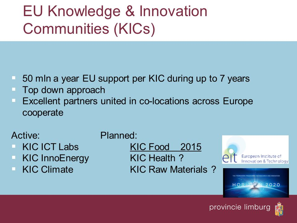 EU Knowledge & Innovation Communities (KICs)
