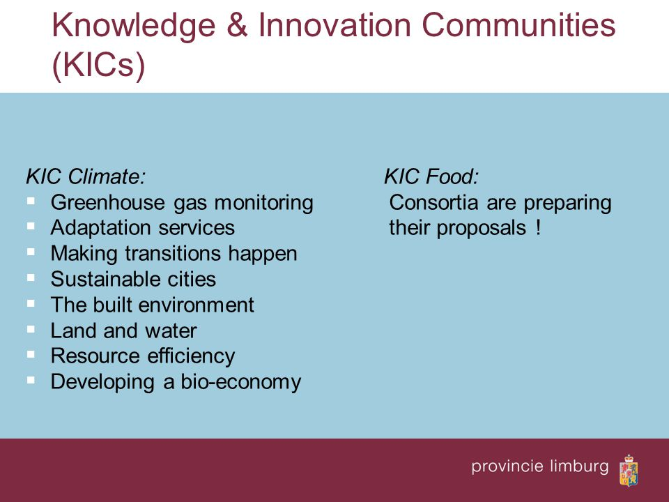 Knowledge & Innovation Communities (KICs)