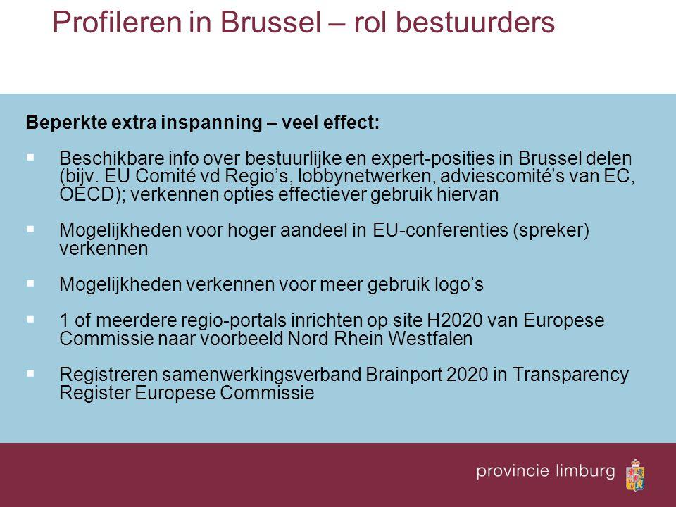 Profileren in Brussel – rol bestuurders