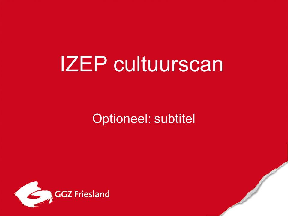 IZEP cultuurscan Optioneel: subtitel