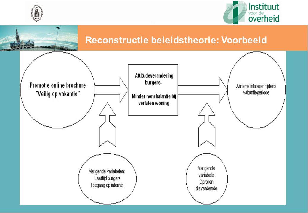 Reconstructie beleidstheorie: Voorbeeld