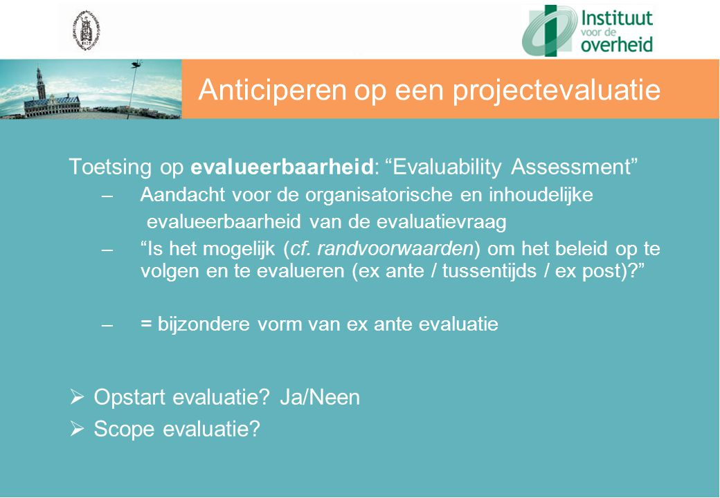 Anticiperen op een projectevaluatie
