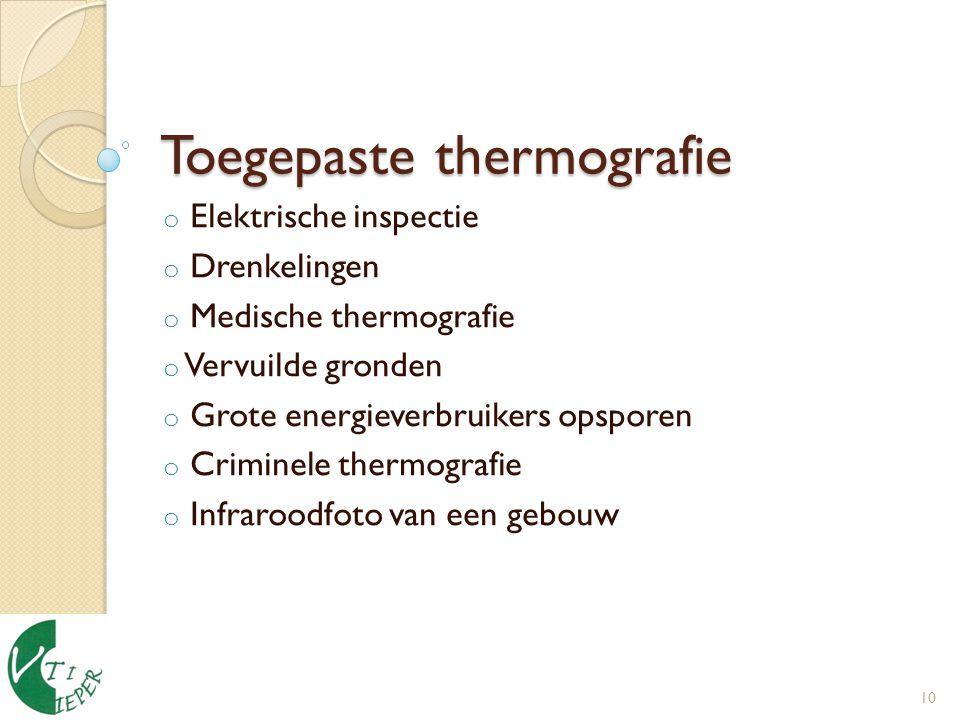 Toegepaste thermografie