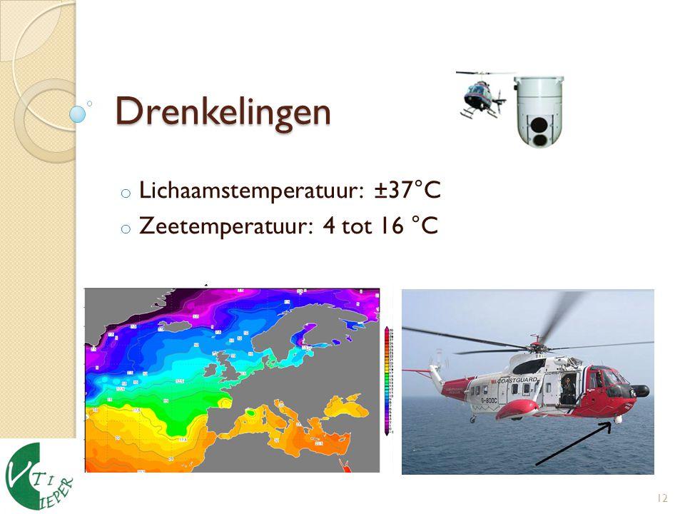 Lichaamstemperatuur: ±37°C Zeetemperatuur: 4 tot 16 °C