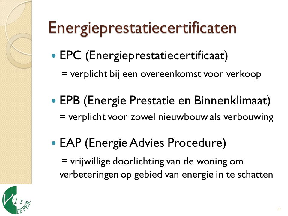 Energieprestatiecertificaten