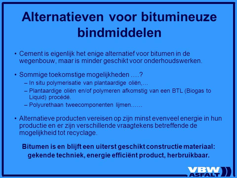 Alternatieven voor bitumineuze bindmiddelen