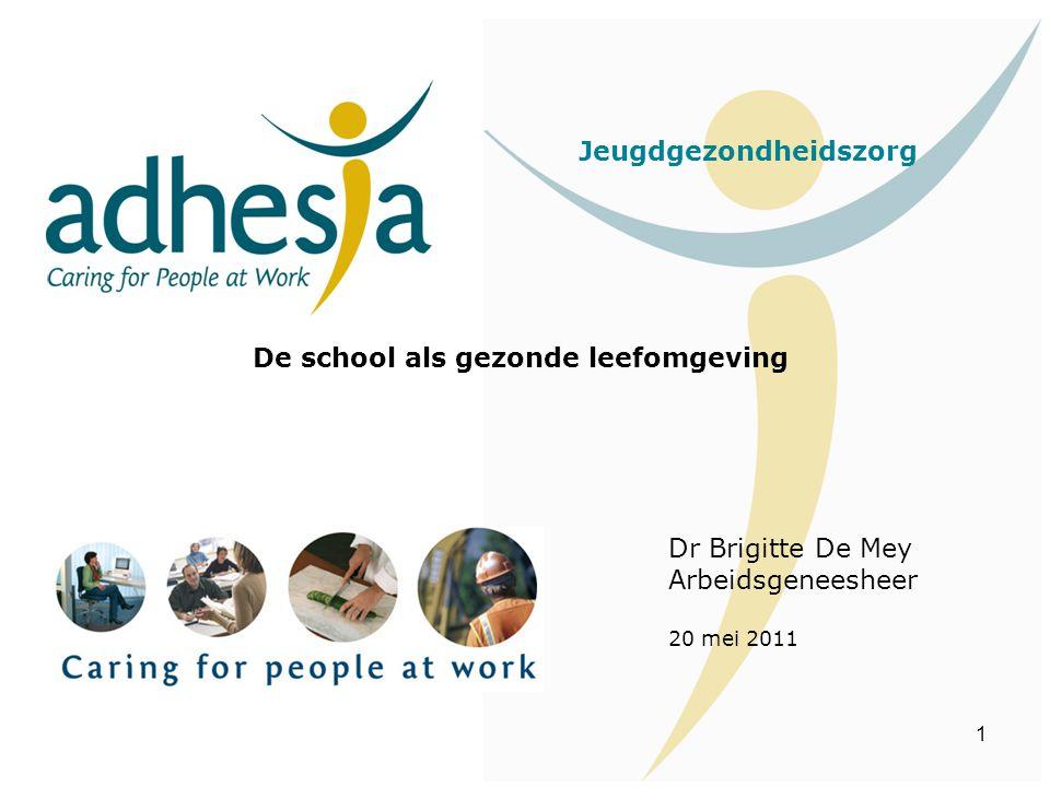 Jeugdgezondheidszorg De school als gezonde leefomgeving