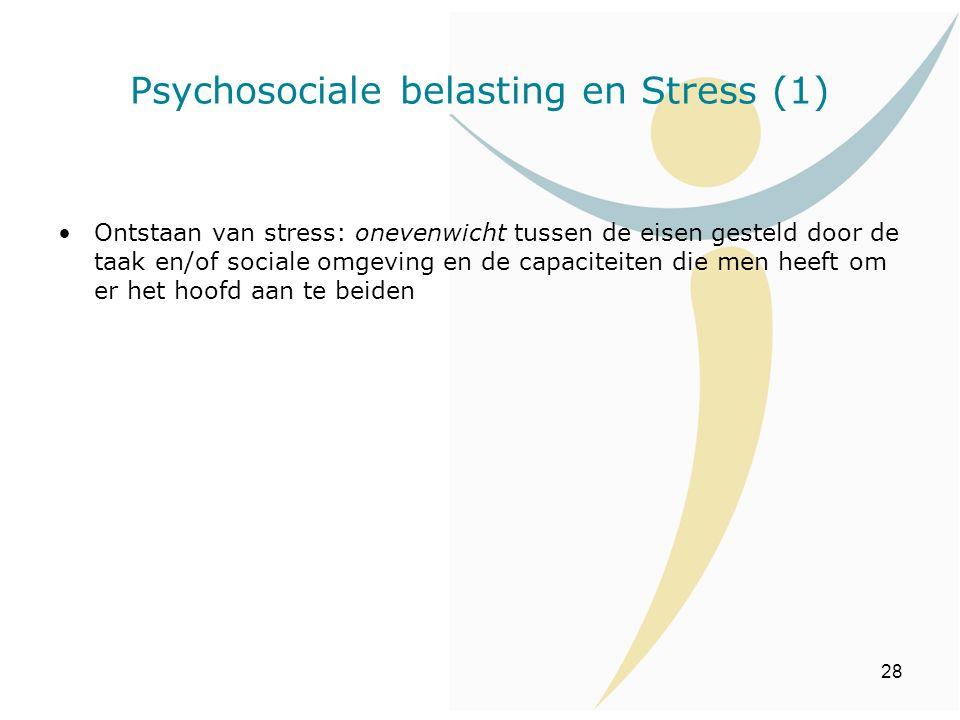 Psychosociale belasting en Stress (1)