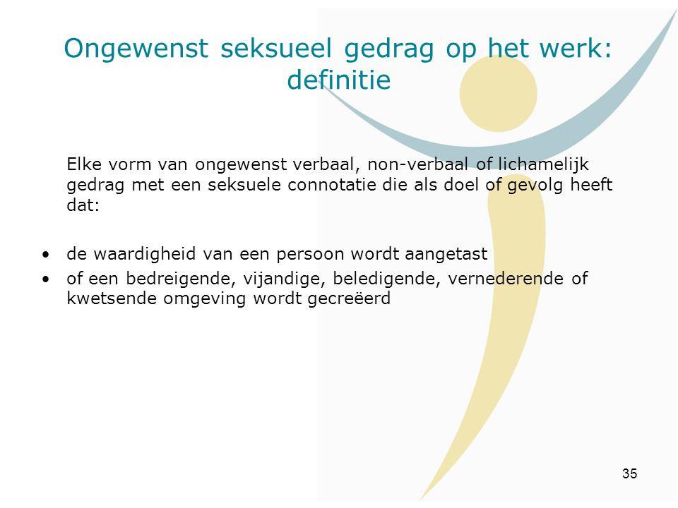 Ongewenst seksueel gedrag op het werk: definitie