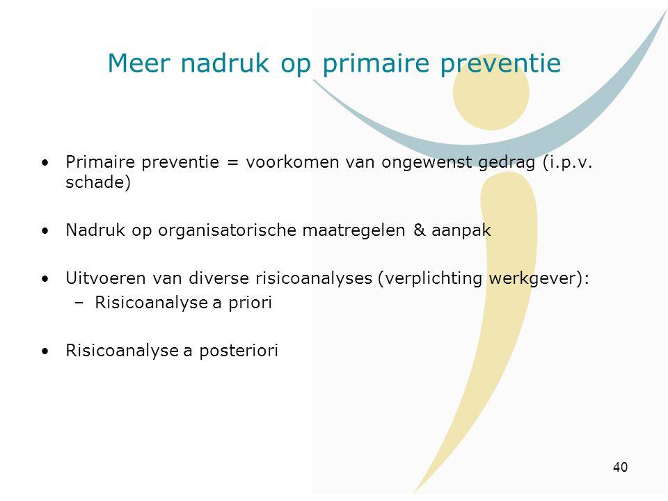 Meer nadruk op primaire preventie